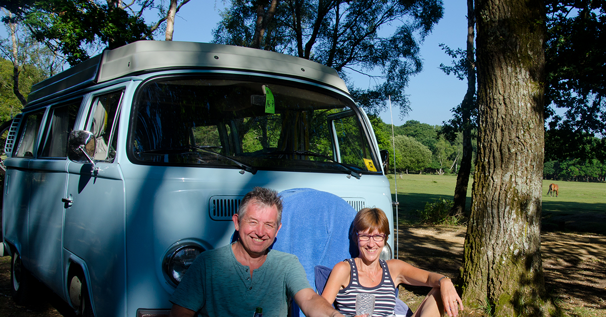 Picture: Chris Collis and Jackie Collis Grown-up drinks and campervan